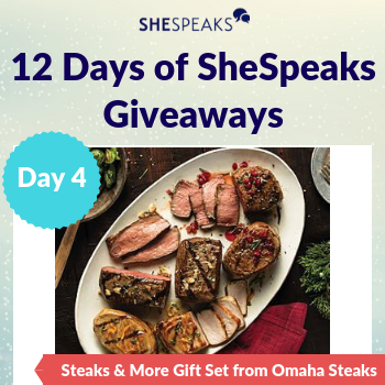 12 Days of SheSpeaks, Day 4: Win a Steaks & More Gift Set from Omaha Steaks!